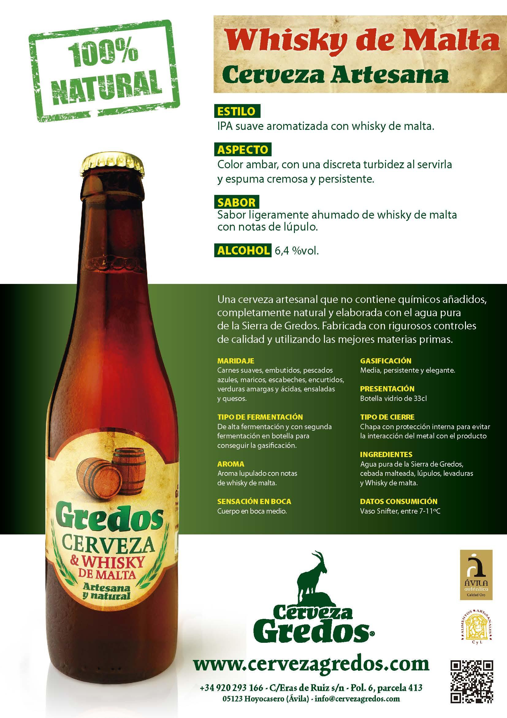 Cerveza artesana con whisky alta graduación